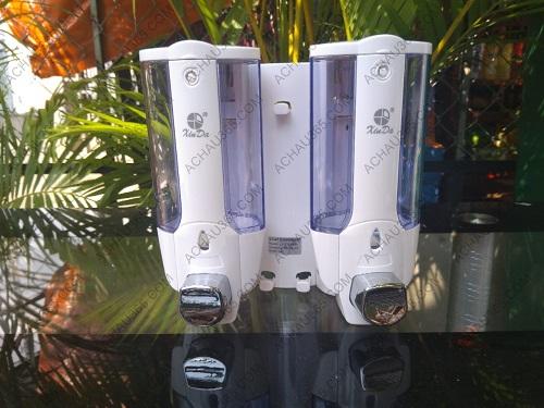 Bình đôi đựng sữa tắm nước rửa tay treo tường