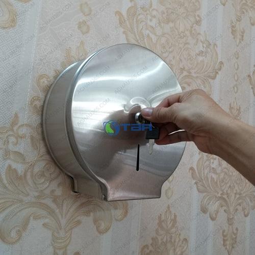 Hộp đựng giấy vệ sinh bằng inox đặt nhà tắm nhà vệ sinh