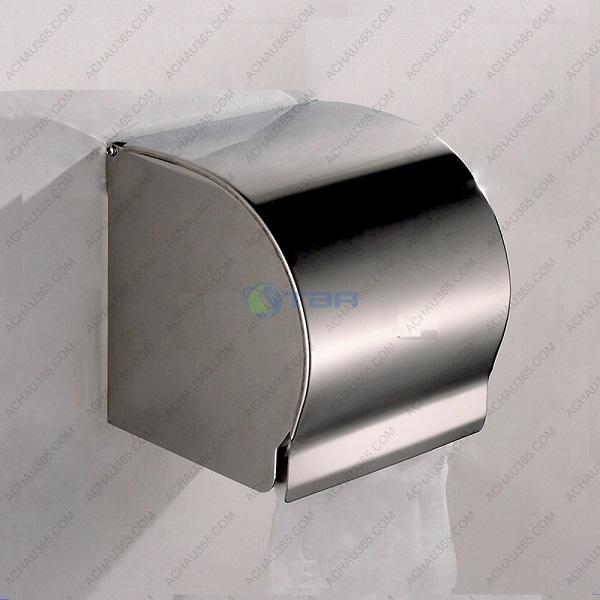 Hộp đựng giấy vệ sinh treo tường bằng inox đặt nhà vệ sinh