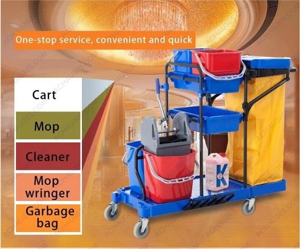 Xe dọn vệ sinh đa năng trong bệnh viện