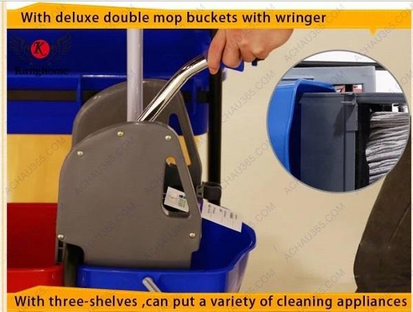 xe dọn vệ sinh vắt và ép nước cây lau sàn