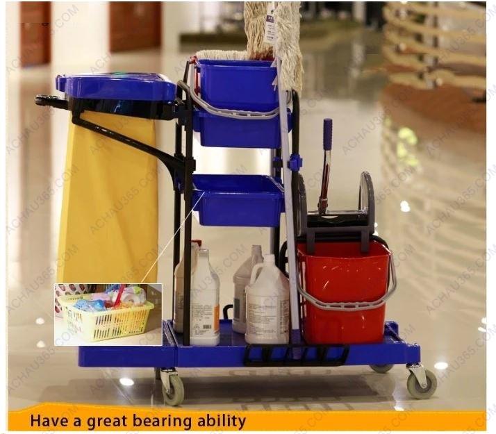 Xe dọn vệ sinh đa năng trong khách sạn bệnh viện trường học